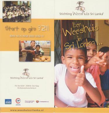 folder weeshuis Sri Llanka